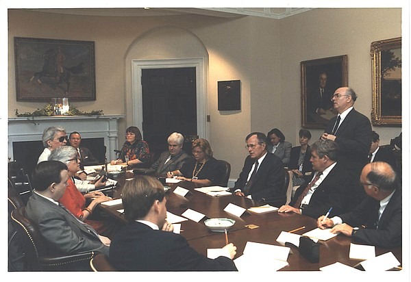 Cyndi Jones at the White House with former President Geor...