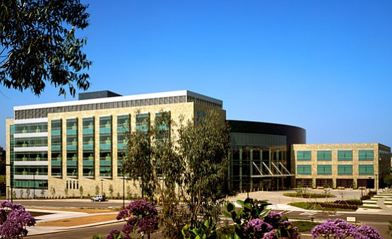 UC San Diego Moores Cancer Center is pictured in this und...