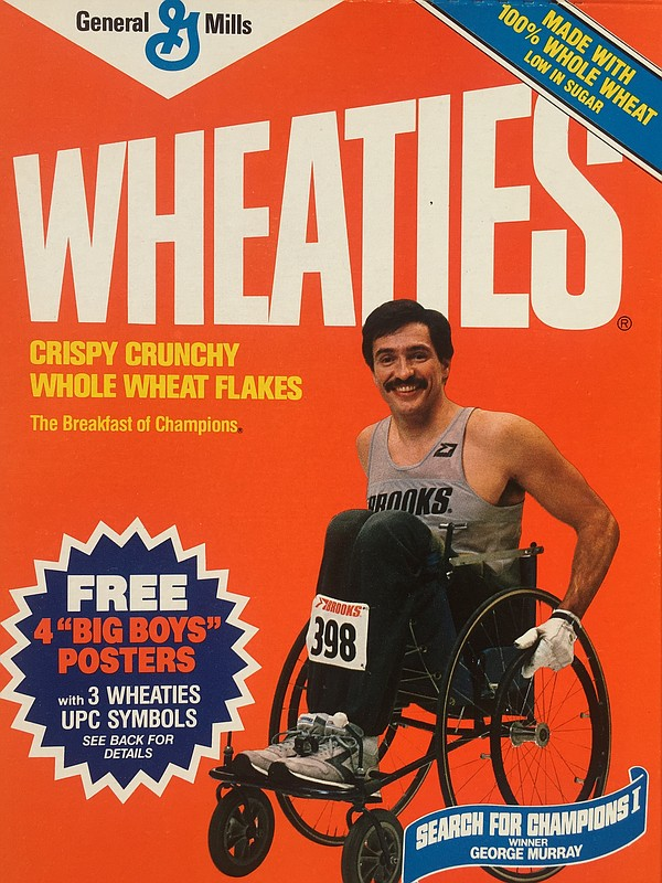 George Murray a two time wheelchair champion on the front...