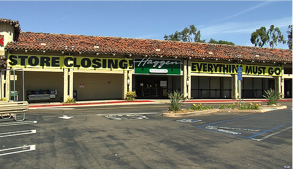 A Haggen grocery store sits empty on Lake Murray Blvd. in La Mesa, California...