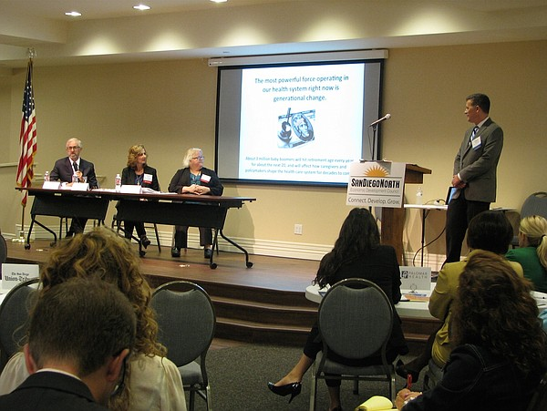 Panelists at the San Diego North  Economic Development Co...