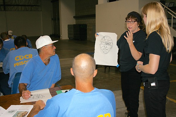 Project PAINT instructors (left to right) Kathleen Mitche...