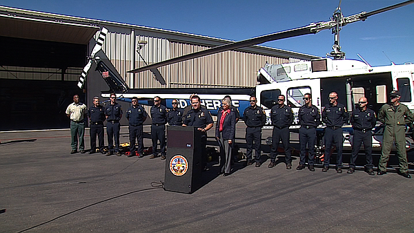 San Diego County Fire Chief Tony Mecham talks about the i...