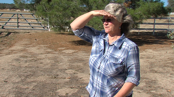 Donna Tisdale stands in her Boulevard Ranch, Sept. 28, 2015.