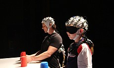 Dr. David Eagleman cupstacking with under 10 wo...