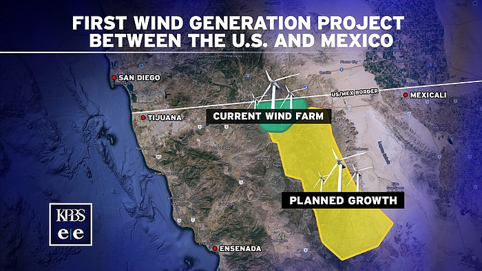 First USMexico Wind Energy Project Sees Legal Challenge KPBS - Us wind farm map