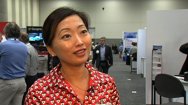 UCSD researcher Shirley Meng talks about the future of batteries on Oct. 15, ...
