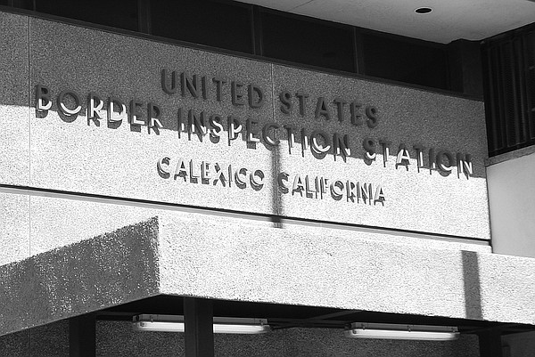 The Calexico port of entry is shown in this undated photo.