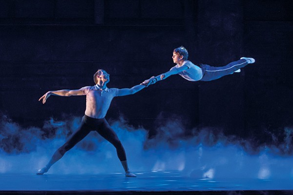 "Liam Mower and Elliott Hanna in ""Billy Elliot The Musical..."