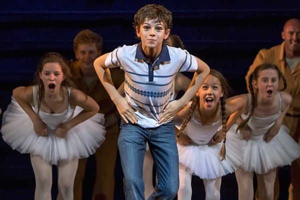 "Elliott Hanna and Ruthie Henshall in ""Billy Elliot The Mu..."
