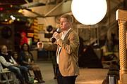Comedian and actor Jamie Kaler entertains the crowd at the GI Film Festival San Diego.