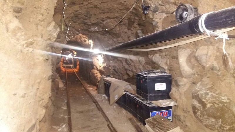 A drug tunnel linking Tijuana and Otay Mesa is pictured on Oct. 22, 2015. Kno...