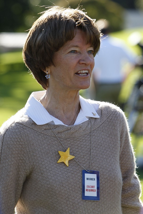 Former Astronaut Sally Ride speaks to members of the medi...