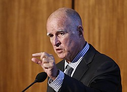 Gov. Jerry Brown speaks at UC San Diego, Oct. 27, 2015.