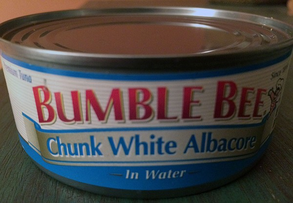 A can of Bumble Bee white albacore tuna is pictured, Oct....
