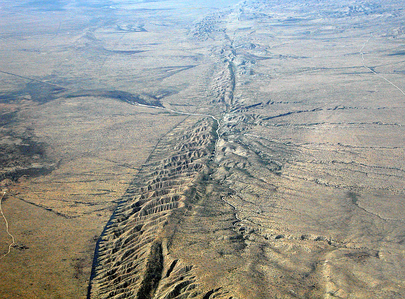 California's San Andreas Fault seen in this undated photo by USGS.