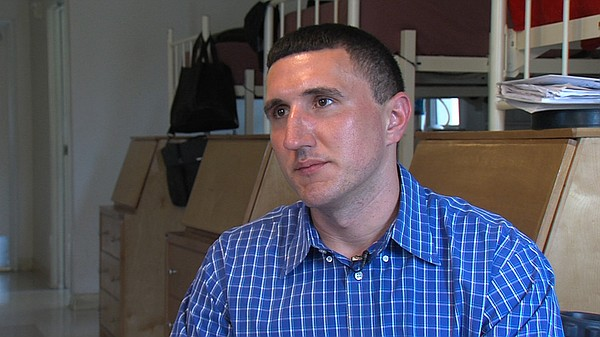 Marine veteran Shaun Tullar talks about his future after jail from his room a...