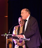 Ken Kramer, a Lifetime Achievement honoree in the KPBS Hall of Fame, at the KPBS Celebrates Gala on Saturday, March 28, 2015 at the Hilton La Jolla Torrey Pines.
