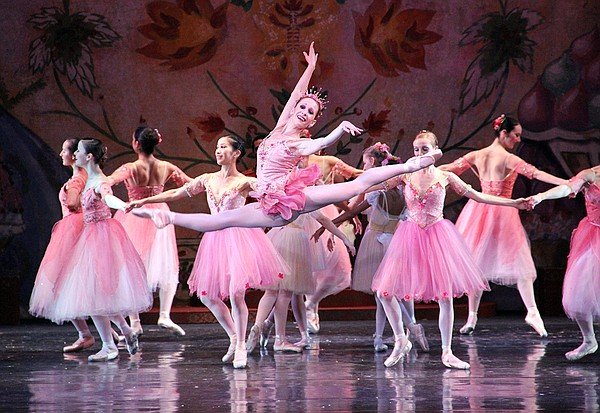 The Sugar Plum Fairy leaps through the Land of the Sweets...