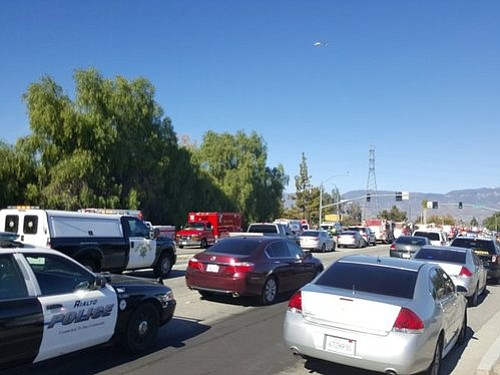 Law enforcement and other first responders floo...
