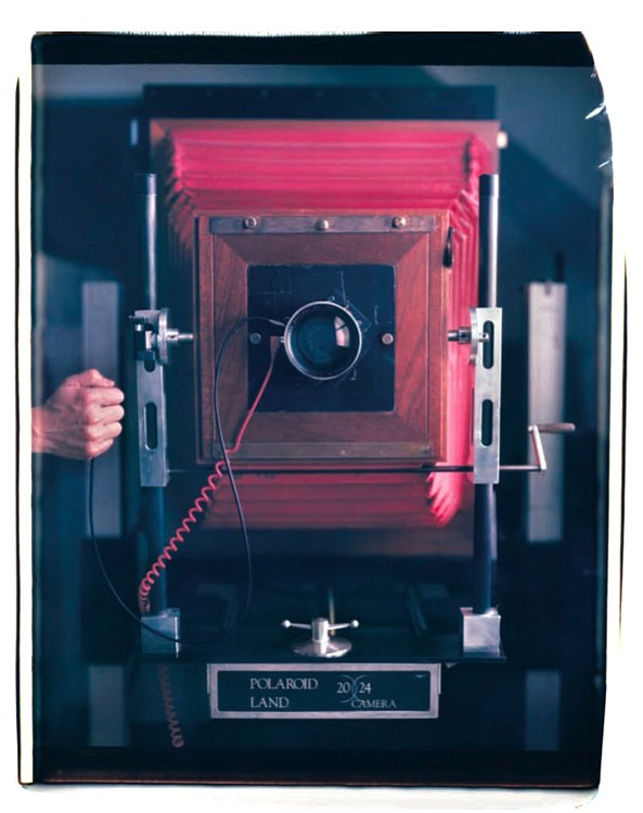 The large 20x24 Polaroid camera Mantoani uses for making ...