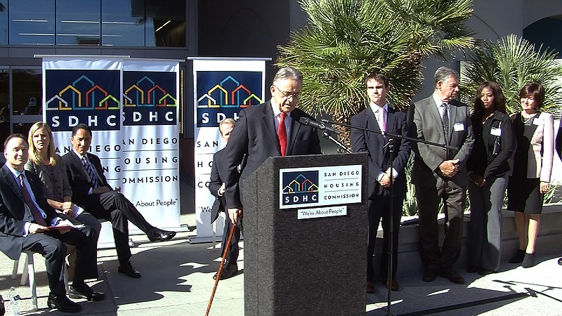 San Diego Housing Commission CEO Richard Gentry announces new initiatives to ...