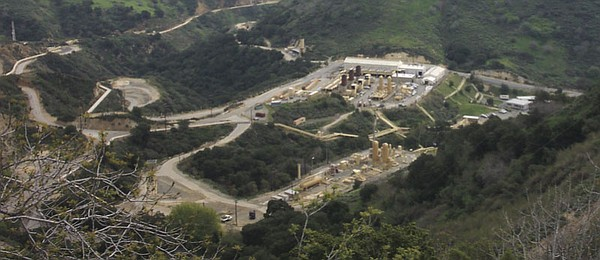 A partial view of the Aliso Canyon natural gas storage fa...