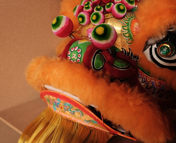 A lion head for Chinese New Year.