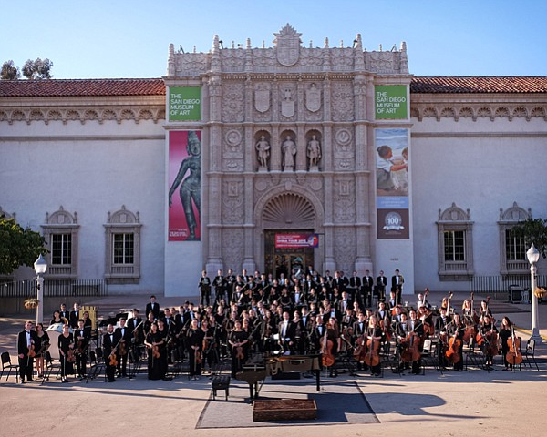 San Diego Youth Symphony China Tour orchestra at the Bon Voyage Concert in th...