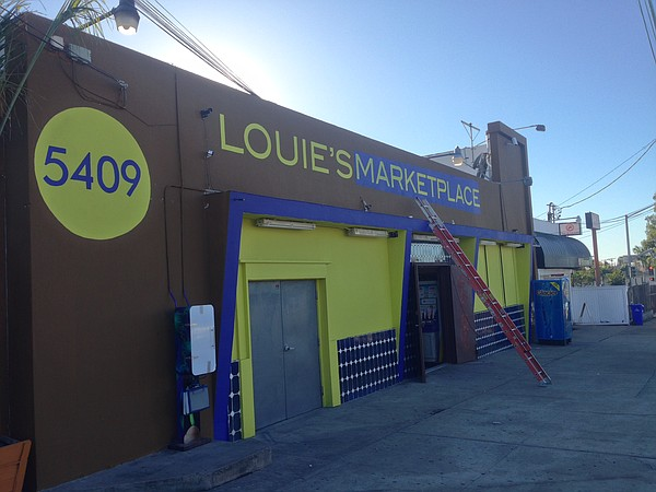 Louie's Marketplace is shown after its makeover in this u...