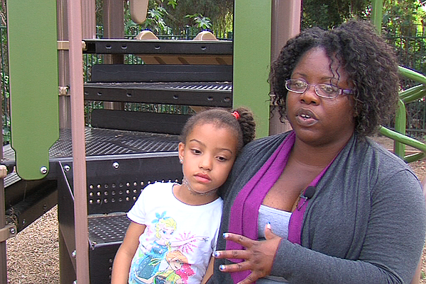 Rhonda Edwards and her daughter Lyric at Operation Hope's...