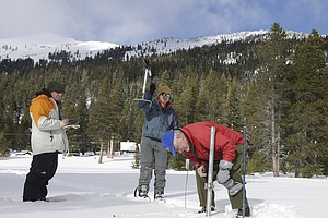 Halfway Through Wet Season, California's Snowpack More Than Halfway There