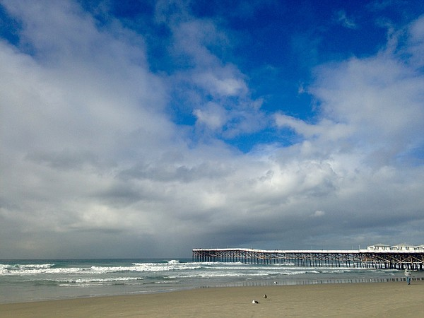 Clouds hover over Crystal Pier in Pacific Beach, Jan. 4, ...