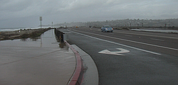 High tides may threaten to flood Highway 101 in Cardiff, Jan. 6, 2016.