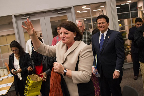 Assembly Speaker Toni Atkins and state Sen. Marty Block l...