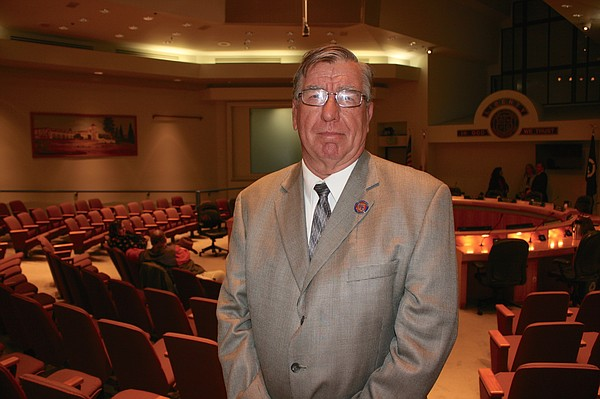 Oceanside City Councilman Jerry Kern is pictured at a city council meeting, J...
