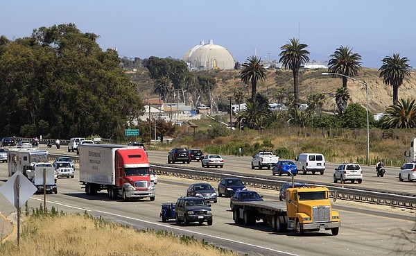 A steady flow of traffic on Interstate 5 in northern San Diego County, June 3...