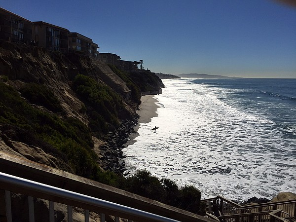 The bluffs at Del Mar Shores in Solana Beach, Jan. 12, 2016.