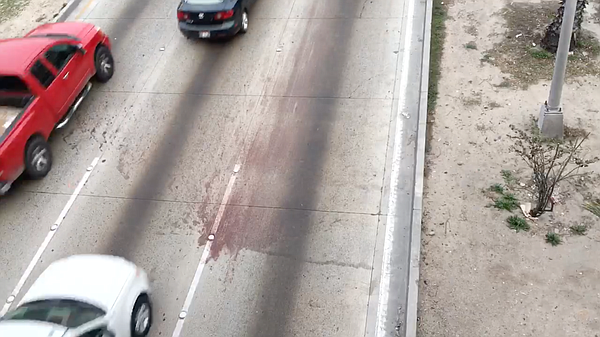 The Vía Rápida highway in Tijuana is stained with blood a...