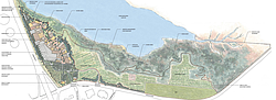 A map of the proposed 85-15 project on the shores of the Agua Hedionda Lagoon...