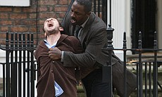 DCI John Luther (Idris Elba) manhandles Mark No...