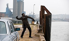 DCI John Luther (Idris Elba) getting rid of evi...