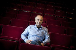 A portrait of UC San Diego professor Shahrokh Yadegari, whose multi-media theater work will be broadcast in Iran for the first time.