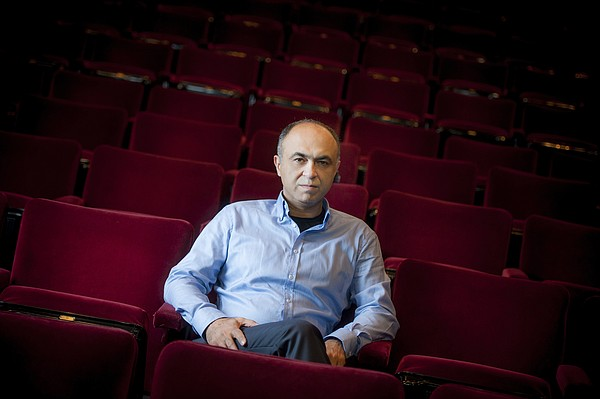 A portrait of UC San Diego professor Shahrokh Yadegari, whose multi-media the...