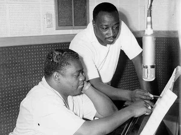 Fats Domino (seated) and Dave Bartholomew, producer/songw...