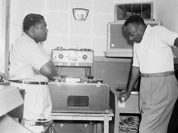 Fats Domino and Dave Bartholomew, producer/songwriter/ban...