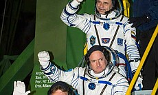Expedition 43 NASA Astronaut Scott Kelly waits ... (72596)
