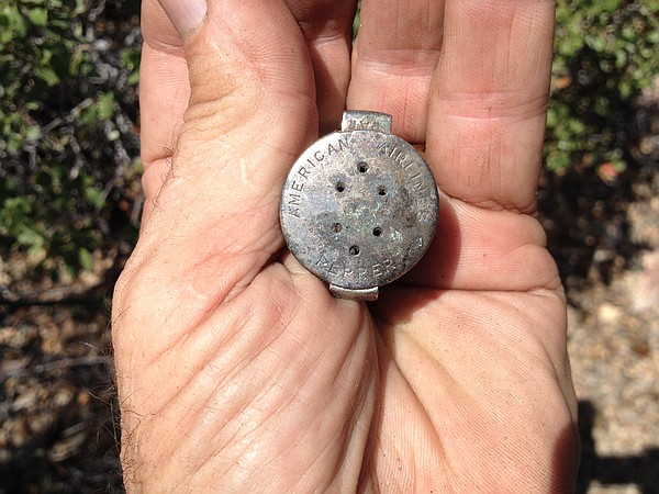 David Lane found a pepper shaker from the Flagship Baltimore wreckage where i...