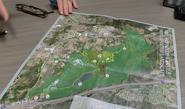 A map of the Newland Sierra master-planned community, pro...