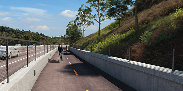 The design for the state Route 15 Commuter Bikeway is shown in this undated r...